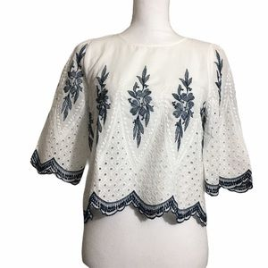 Endless Rose Anthro cropped boho top. Small